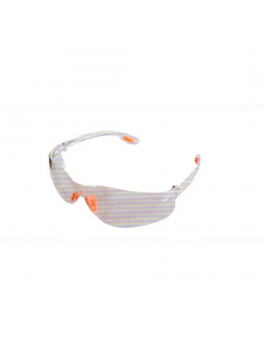 ANDER 30012 Clear Safety Eyewear Goggle - Red/White Frame