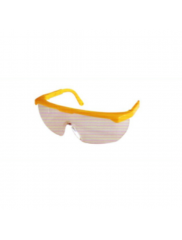 ANDER 30016 Clear Safety Eyewear Goggle - Yellow Frame