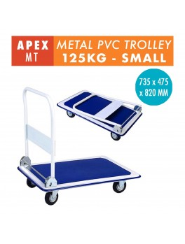 APEX Foldable Metal Trolley- 125KG (Blue)