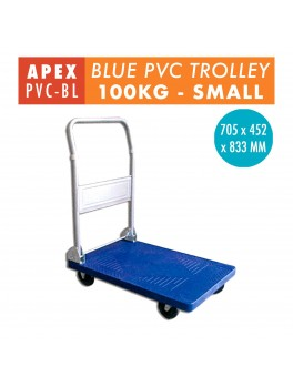 APEX Foldable PVC Trolley- 100KG (Blue)
