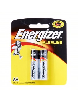 ENERGIZER Alkaline AA Battery- 2pcs/card, Yellow card, (E91 BP2)