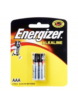 ENERGIZER Alkaline AAA Battery- 2pcs/card, Yellow card, (E92 BP2)