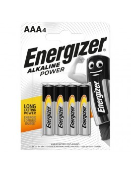 ENERGIZER Alkaline Power AAA Batteries - 4pcs/card (E92)