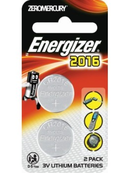 ENERGIZER Lithium Coin 3V Battery- 2pcs/card (ECR2016 BP2)