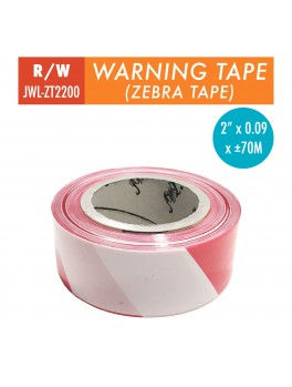 "JWL Warning Tape 2""- Red/White"