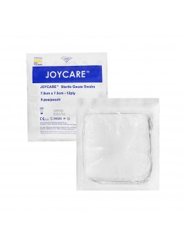 JOYCARE Gauze Swabs Sterile 12-Ply, 7.5cm x 7.5cm