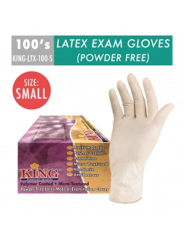 KING Latex Exam Gloves 6.5G- size S