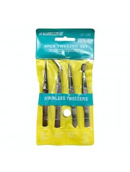 SELLERY 07-120High Standard Stainless Steel Tweezer Set- 4pcs