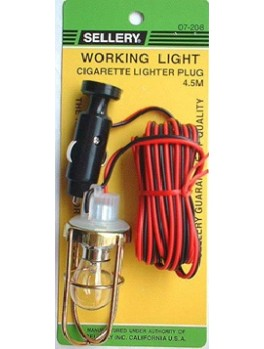 SELLERY 07-208 Working Light with Cigarette Lighter Plug- 12V Bulb
