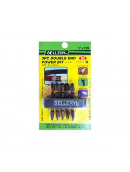 SELLERY 11-139 5pc Double-End Power Bit Set