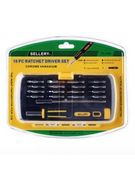 SELLERY 11-155 18pc Ratchet Driver Set