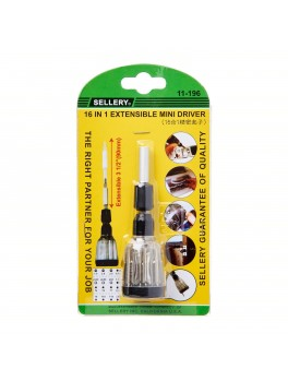 SELLERY 11-196 16-In-1 Extensible Mini Driver