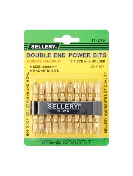 SELLERY 11-216 10pc Double End Power Bits