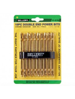 SELLERY 11-219 10pc Double End Power Bits