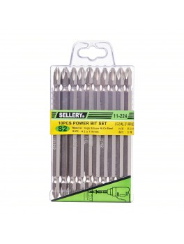 SELLERY 11-224 10pc Power Bit Set- #2x110mm (+)