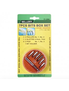 SELLERY 11-244 7pc Bits Box Set