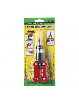SELLERY 11-286 15-in-1 Ratchet Screwdriver