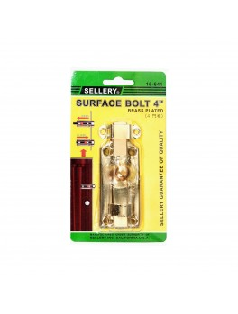 "SELLERY 16-641 Surface Bolt 4""- Brass"