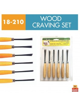 SELLERY 18-210 6pc Wood Carving Set 6.5