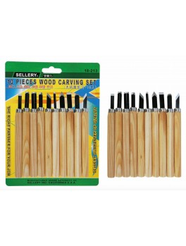 SELLERY 18-213 10-Pc Wood Carving Set