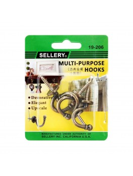 SELLERY 19-206 Multi-Purpose Decorative Hooks