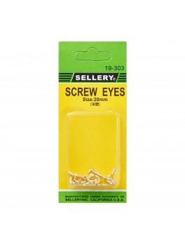 SELLERY 19-303 Screw Eyes- 20mm