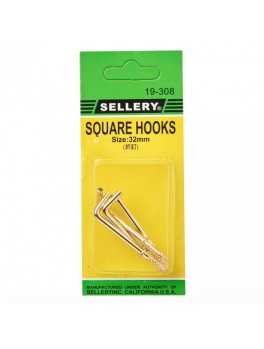 SELLERY 19-308 Square Hooks- 32mm