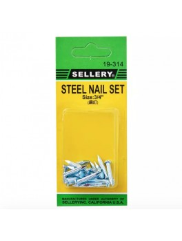 SELLERY 19-314 Steel Nail Set- 3/4""