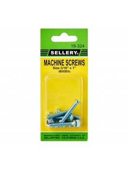 "SELLERY 19-324 Machine Screws- 3/16""x1"""