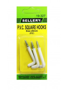 SELLERY 19-327 PVC Square Hooks- 28mm