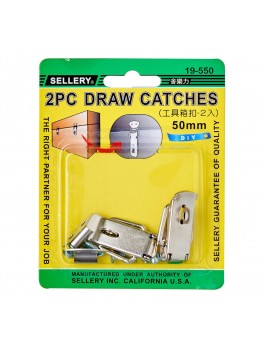 SELLERY 19-550 2pc Draw Catches with Screws- 50mm