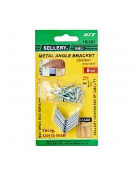 SELLERY 19-581 Steel Furniture Bracket Set- 23 x 23 x 1.5mm