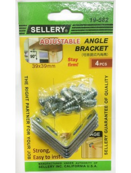 SELLERY 19-582 Steel Furniture Bracket Set- 39 x 39 x 2.0mm