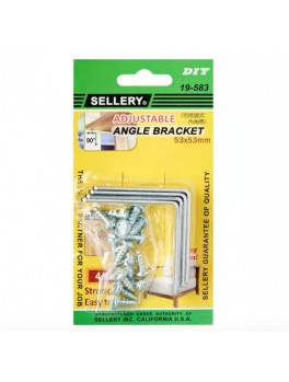 SELLERY 19-583 Steel Furniture Bracket Set- 53 x 53 x 2.0mm