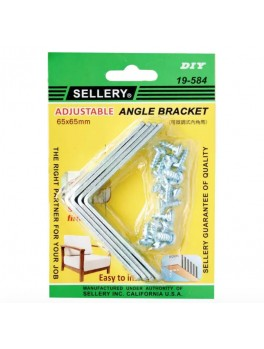 SELLERY 19-584 Steel Furniture Bracket Set- 65 x 65 x 2.5mm