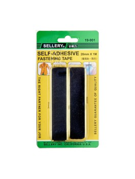SELLERY 19-901 Self Adhesive Fastening Tape- Black