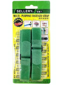 SELLERY 19-908 2pc Multi-Purpose Fastener Strap - Green