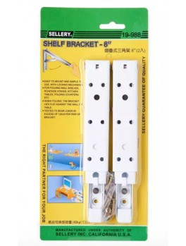 SELLERY 19-988 Folding Shelf Bracket- 8""