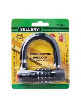 SELLERY 22-349 Black Combination Padlock (4 Digits) - Resettable