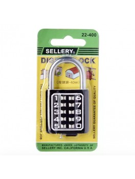 SELLERY 22-400 Digital Padlock 40mm- Black