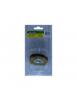 "SELLERY 30-211 Wire Wheel Brush, Size: 2""x12mmx12mm"