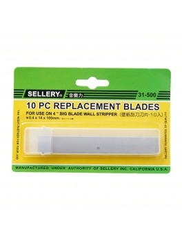 SELLERY 31-500 10pc Wall Stripper Blades- Size: 100mm