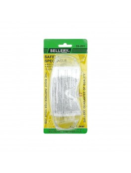 SELLERY 39-201 Safety Spectacles, 58mm (Clear Lenses)