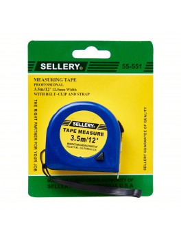 SELLERY 55-551 Measuring Tape- 3.5M/12'x12.5mm