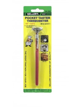 "SELLERY 56-260 Pocket Thermometer, Diameter: 1"", Max.Temp: 100ºC"