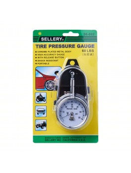 "SELLERY 56-602 Tire Pressure Gauge 2"", 0-60PSI, 60lbs / 4.2kg"