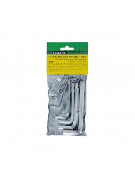 SELLERY 58-535 10-Piece Hex Key Wrench Set, Size: 1.5,2,2.5,3,4,5,5.5,6,8,10mm