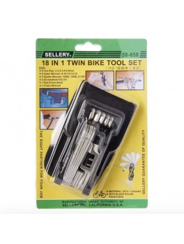 SELLERY 58-658 18-in-1 Twin Bike Tool Set