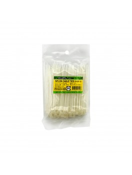 SELLERY 59-010 Nylon Cable Tie, Size: 2.5mm x 100mm (White)