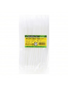SELLERY 59-015 Nylon Cable Tie, Size: 3.6mm x 150mm (White)